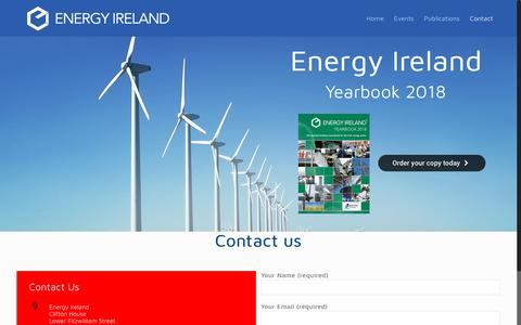 Screenshot of Contact Page energyireland.ie - Contact Us – Energy Ireland - captured Nov. 5, 2018