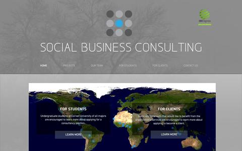 Screenshot of Home Page socialbusinessconsulting.org - Social Business Consulting - captured Oct. 6, 2014