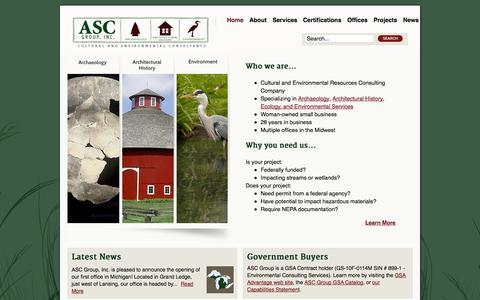 Screenshot of Home Page ascgroup.net - ASC Group, Inc. - captured Oct. 4, 2014