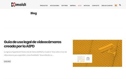 Screenshot of Blog kimaldi.com - Blog archivos | Kimaldi - captured Sept. 20, 2018
