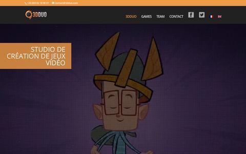 Screenshot of Home Page 3dduo.com - 3DDUO - Studio de création de jeux vidéo - captured Oct. 31, 2017