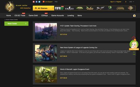 Screenshot of Press Page randyrun.com - Game News, Game Guide - captured July 3, 2017