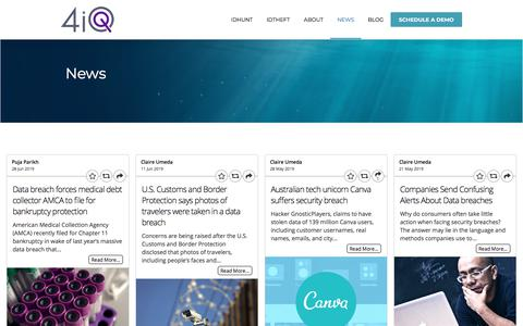 Screenshot of Press Page 4iq.com - News - 4iQ - captured July 3, 2019
