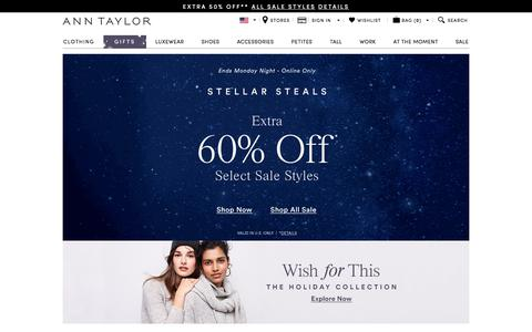 ANN TAYLOR: Women's Clothing, Suits, Dresses, Cashmere, Sweaters, Petites