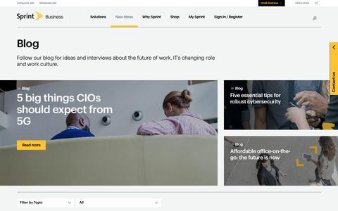 Screenshot of Blog sprint.com - Sprint Business - Blog - captured April 20, 2016