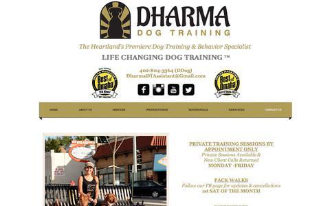 Screenshot of Contact Page dharmadogtraining.com - Dog training omaha, dog trainer omaha, dog behavior omaha ne - captured June 4, 2017