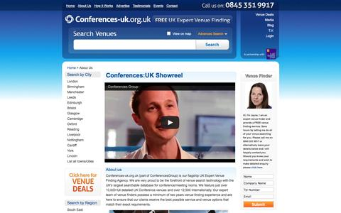 Screenshot of About Page conferences-uk.org.uk - About Us | Conferences UK Team | Conference Venues UK - captured July 15, 2016