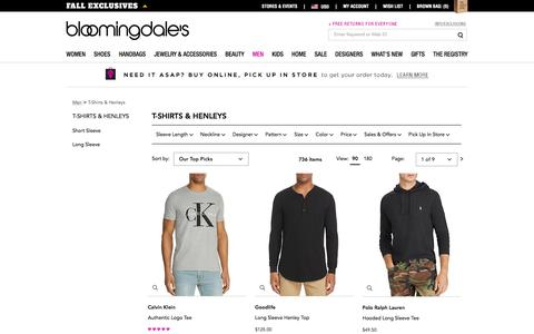 Men's Designer T-Shirts & Graphic Tees - Bloomingdale's