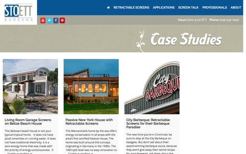 Screenshot of Case Studies Page stoett.com - Case Studies - Stoett Industries - captured Dec. 15, 2016