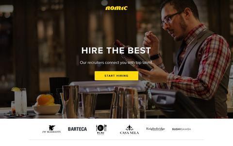 Screenshot of Home Page nomic.com - Nomic - captured Aug. 10, 2016