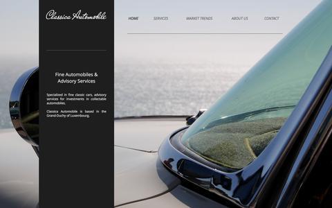 Screenshot of Home Page classica.lu - Classica Automobile   Investment Advisory - captured Nov. 7, 2016