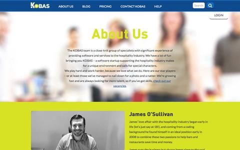 Screenshot of About Page kobas.co.uk - KOBAS :: Your complete hospitality management solution | About us - captured Sept. 30, 2014