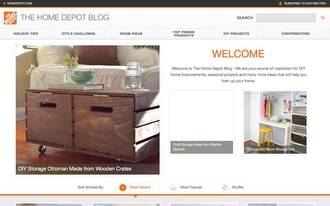 Screenshot of Blog homedepot.com - The Home Depot - captured Jan. 7, 2016