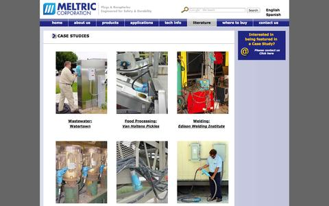 Screenshot of Case Studies Page meltric.com - Meltric Case Studies - captured Oct. 27, 2014