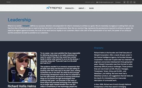 Screenshot of Team Page ntrepidcorp.com - Leadership   About   Ntrepid - captured Oct. 7, 2014