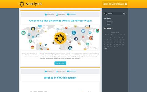 Screenshot of Blog smartyads.com captured Oct. 26, 2014