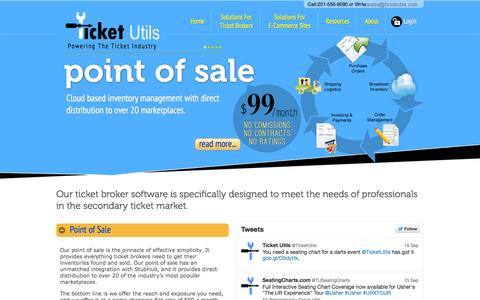 Screenshot of FAQ Page ticketutils.com - Ticket Broker Software Powering the Industry - Ticket Utils - captured Sept. 23, 2014