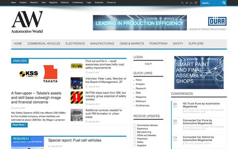 Automotive World - Information and networking for auto industry professionals