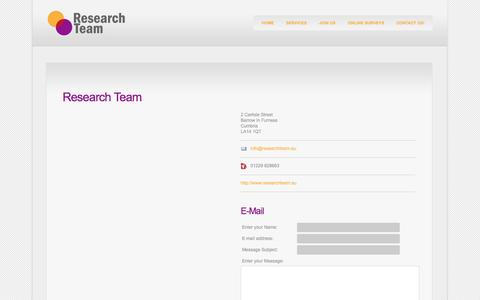 Screenshot of Contact Page researchteam.eu - Research Team - captured Oct. 26, 2014