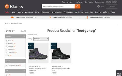Search for hedgehog || View New In Items