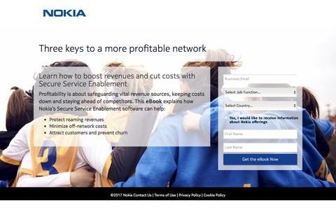 Screenshot of Landing Page nokia.com - Nokia - captured Sept. 13, 2017