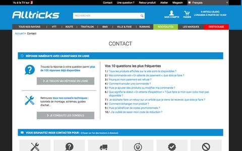 Screenshot of Contact Page alltricks.fr - Contact    | Alltricks - captured Nov. 12, 2016