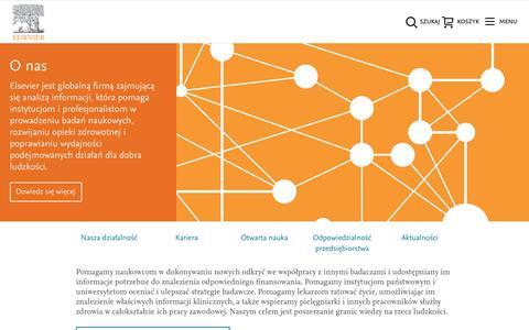 Screenshot of About Page elsevier.com - O Elsevier - captured Oct. 22, 2018