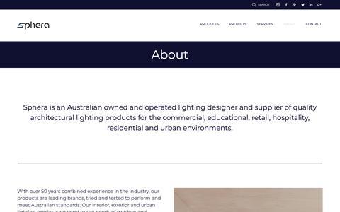 Screenshot of About Page sphera.com.au - About | Sphera - captured Dec. 21, 2018