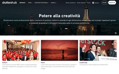 Screenshot of About Page shutterstock.com - Chi siamo   Shutterstock - captured Nov. 24, 2019