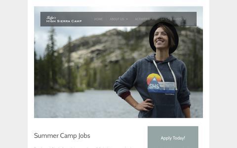 Screenshot of Jobs Page highsierracamp.com - Summer Camp Jobs - captured Oct. 23, 2017