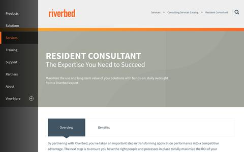 Screenshot of Services Page riverbed.com - Resident Consultant | Riverbed | PL - captured March 1, 2018