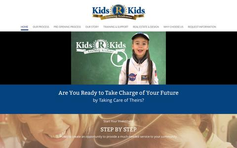 Screenshot of Home Page kidsrkidsfranchise.com - Kids R Kids | Franchise Opportunity - captured March 17, 2016