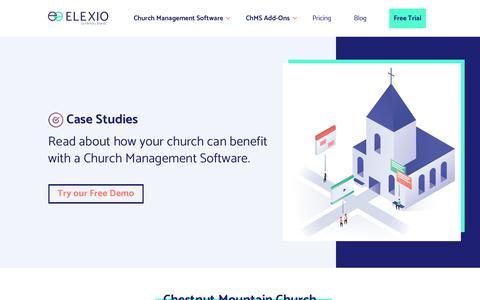 Screenshot of Case Studies Page elexio.com - Case Studies - Elexio - captured Oct. 5, 2019