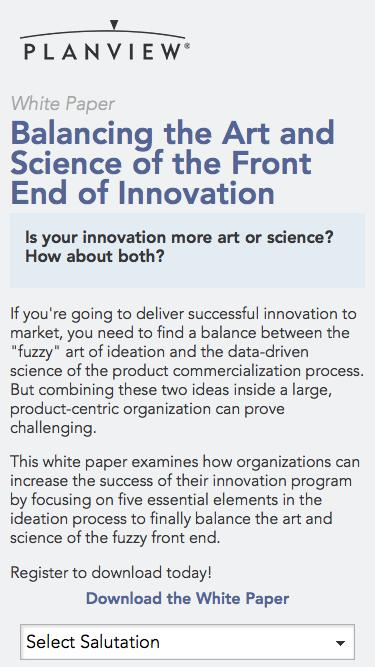 Balancing the Art and Science of Innovation   Planview