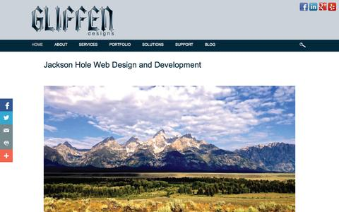 Screenshot of Home Page gliffen.com - Gliffen Designs, Jackson Hole Web Design and Development - captured Oct. 2, 2014