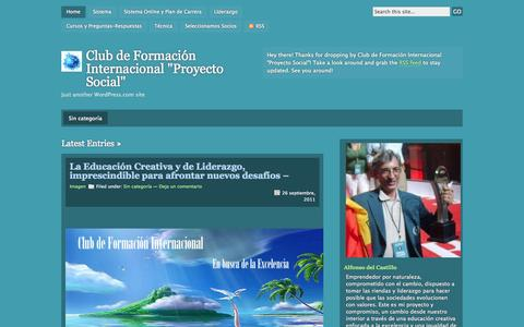 "Screenshot of wordpress.com - Club de Formación Internacional ""Proyecto Social"" | Just another WordPress.com site - captured Oct. 10, 2014"
