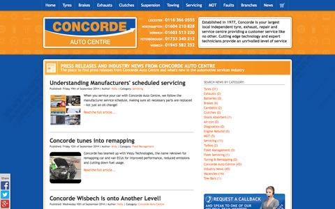 Screenshot of Press Page concordeautocentre.com - News – Concorde Auto Centre - Concorde Auto Centre - captured Sept. 30, 2014