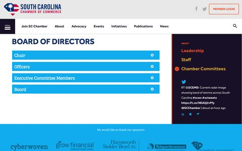 Screenshot of Team Page scchamber.net - Board of Directors | South Carolina Chamber of Commerce - captured Dec. 1, 2016