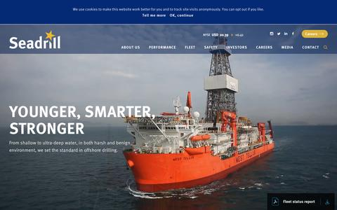 Screenshot of Home Page seadrill.com - Seadrill - captured July 28, 2018