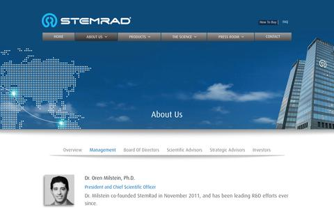 Screenshot of Team Page stemrad.com - Management | StemRad - captured Feb. 26, 2016