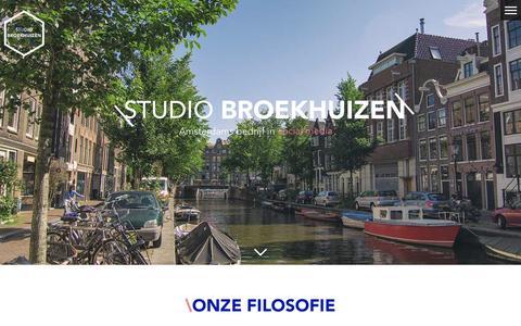 Screenshot of Home Page diederikbroekhuizen.nl - Studio Broekhuizen   Full service Social Media bureau - captured Oct. 8, 2014