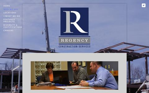 Screenshot of Menu Page regencycsi.com - Who we are — Regency Construction Services - captured Feb. 25, 2016