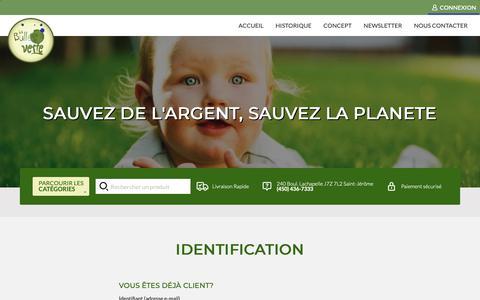 Screenshot of Login Page labulleverte.ca - PRODUITS MÉNAGERS  St-Jerome - captured Dec. 7, 2018
