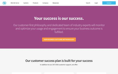 Screenshot of Support Page spscommerce.com - Customer Success | SPS Commerce - captured Oct. 24, 2018