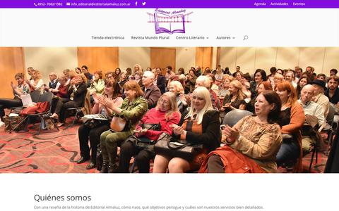 Screenshot of Home Page editorialalmaluz.com.ar - Multimedio - Editorial ALMALUZ - captured July 16, 2018