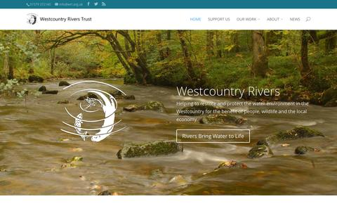 Screenshot of Home Page wrt.org.uk - Westcountry Rivers Trust News | Water is Life - captured Jan. 26, 2015