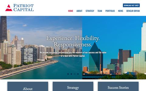 Screenshot of Home Page patriot-capital.com - Patriot Capital – We believe successful partnerships are the measure of our success. - captured Nov. 4, 2018