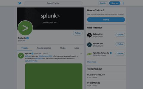 Tweets by Splunk (@splunk) – Twitter