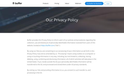 Our Privacy Policy | Buffer