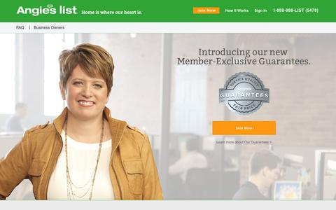 Screenshot of Home Page angieslist.com - Angie's List | Find a Local Business, Ratings, Reviews, Deals - captured March 21, 2016